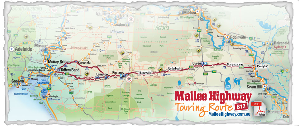 Mallee Highway Map